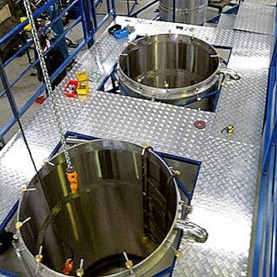 Large stainless steel pot stills for essential oil distillation