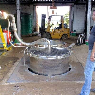 Essential Oils Pot Still submerged installation