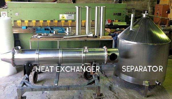 Distillation Heat Exchanger and Separator